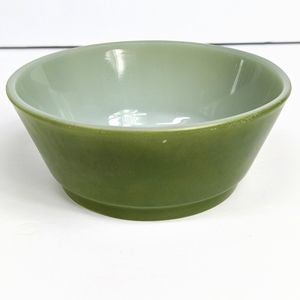 Vintage Anchor Hocking Rare Avocado Green Bowl